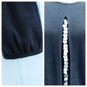 Lilly of California Sweaters - VTG 80s Lilly of California Blingy BLK Kni Sweater